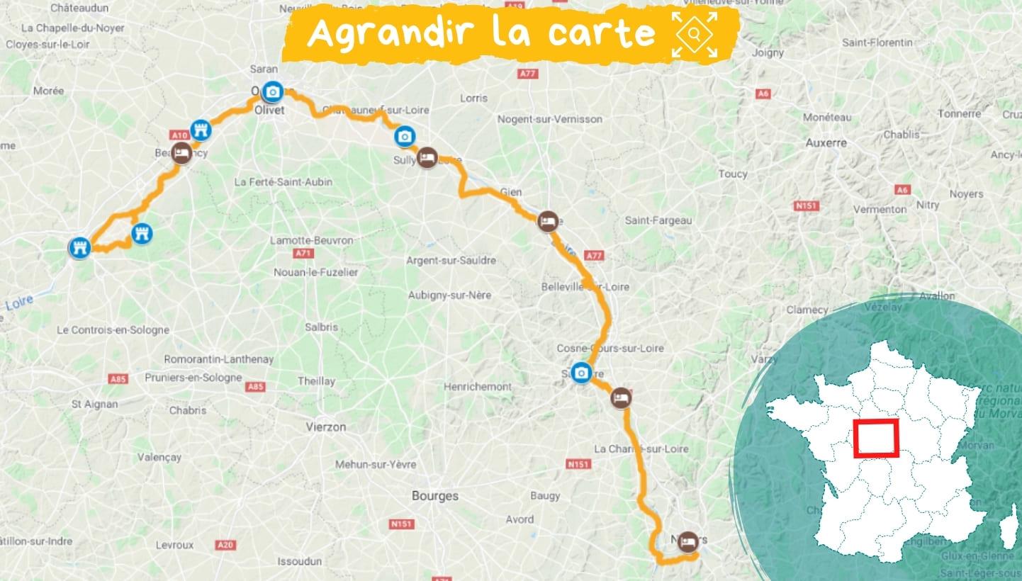 Itinéraire La Loire à vélo de Nevers à Blois