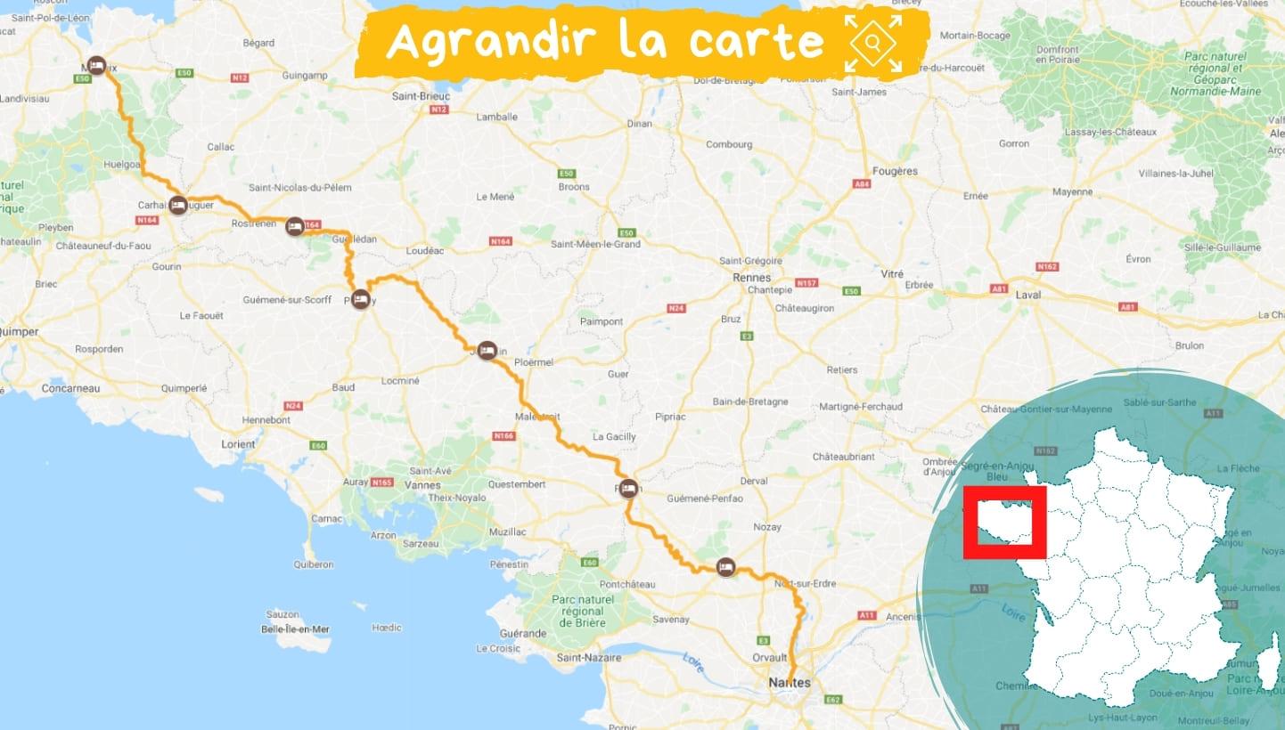 Itinéraire La Vélodyssée, de la Bretagne à la Loire