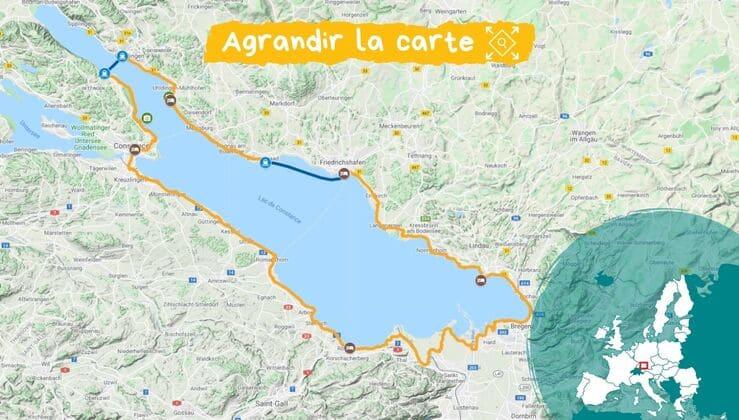 Lac de Constance à vélo en famille