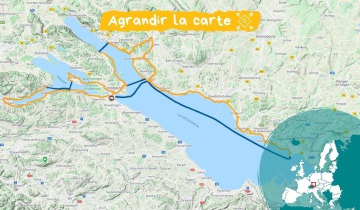 Itinéraire Lac de Constance  séjour les pieds dans l'eau