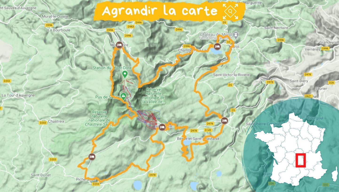 Itinéraire lacs et volcans d'Auvergne