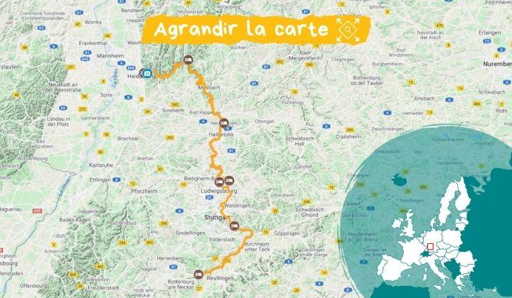 Itinéraire Le Neckar, entre vergers et vignobles