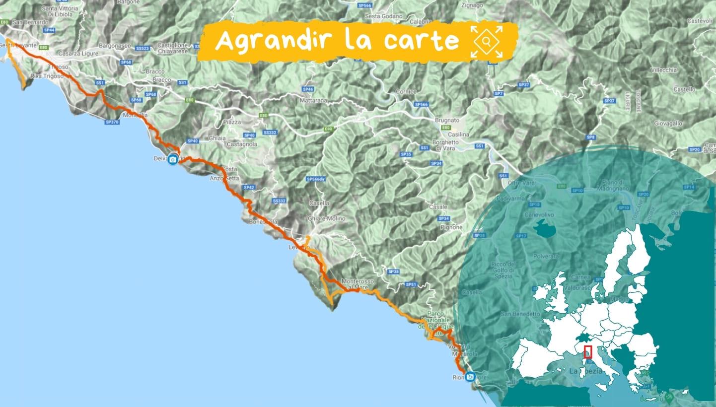 Itinéraire Les Cinque Terre, villages de pêcheurs et vignobles en terrasses