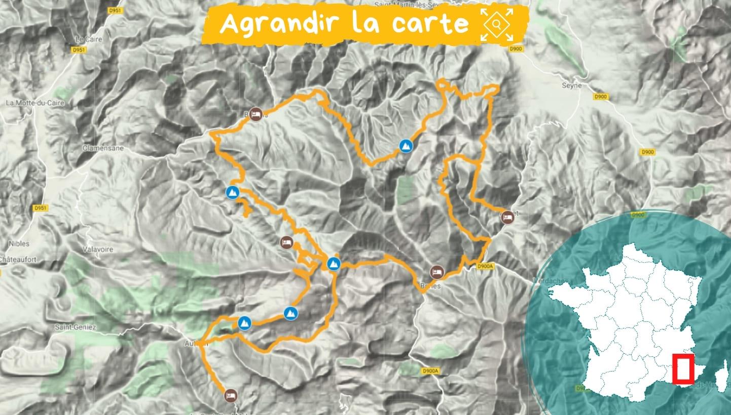 Itinéraire massif des Monges, Retrouvance®