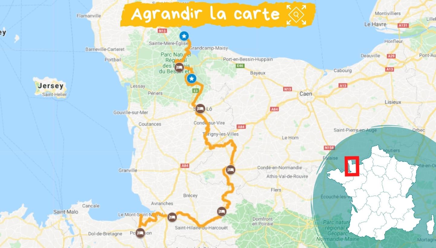 Itinéraire Normandie : d'Utah Beach au Mont Saint Michel