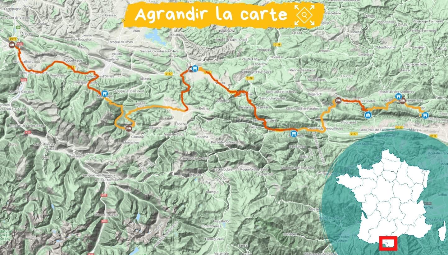 Itinéraire Pays Cathare : de Quéribus à Montségur