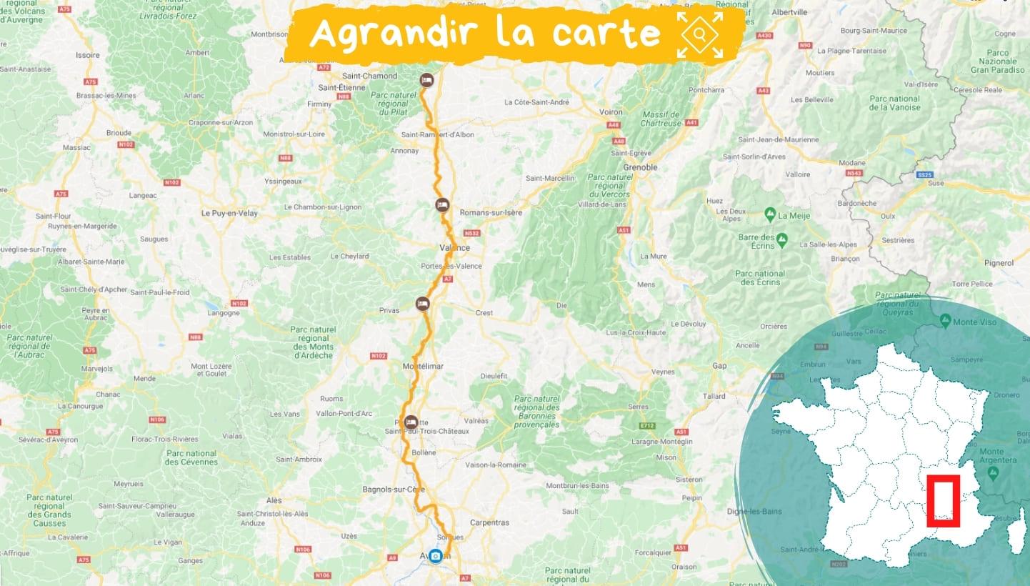 Itinéraire ViaRhôna, de Condrieu en Avignon