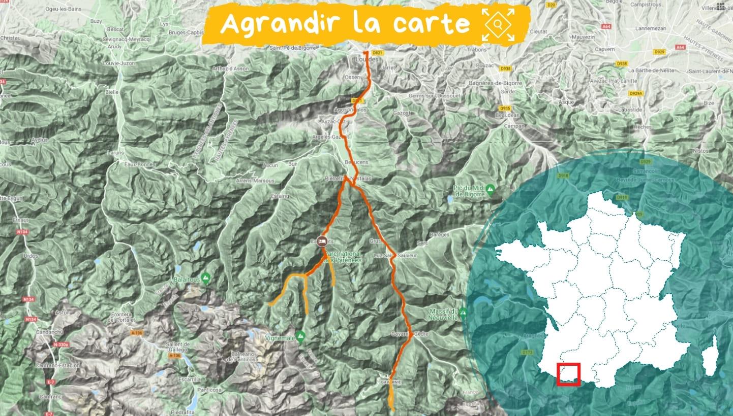 Itinéraire Randonnée et Balnéo : Cauterets et Gavarnie