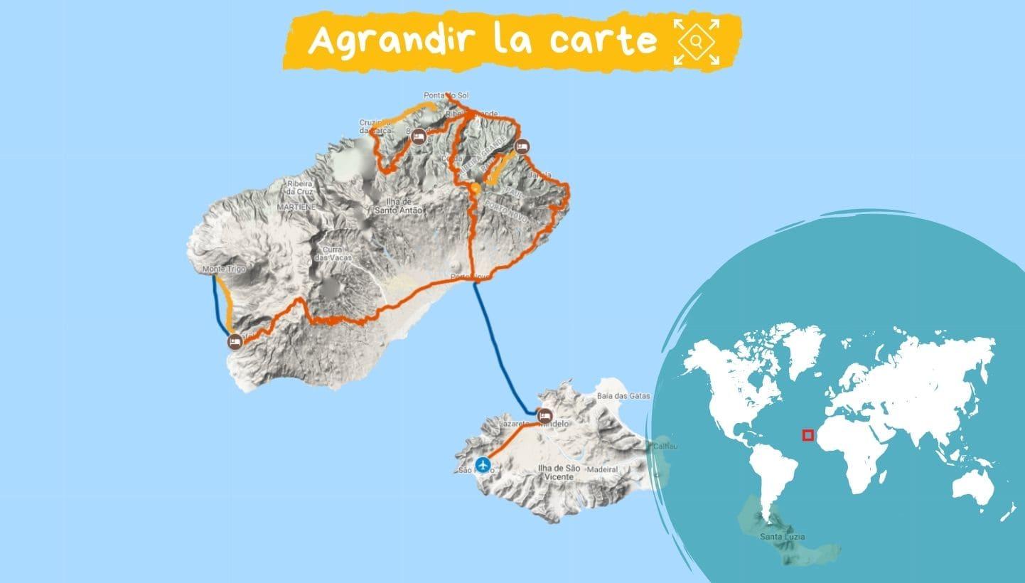 Itinéraire séjour Cap Vert : Les deux visages de Santo Antao
