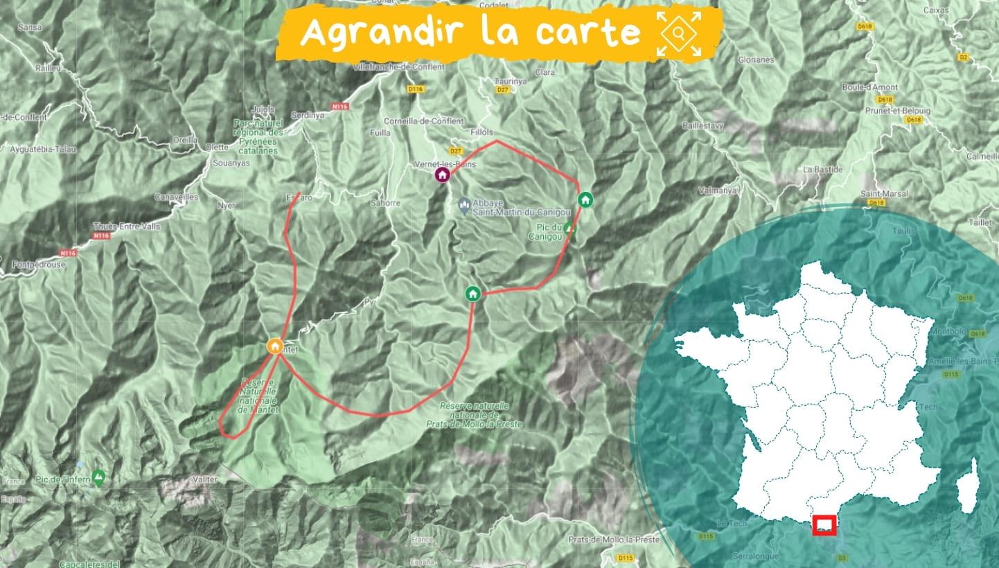 Itinéraire Tour du Canigou