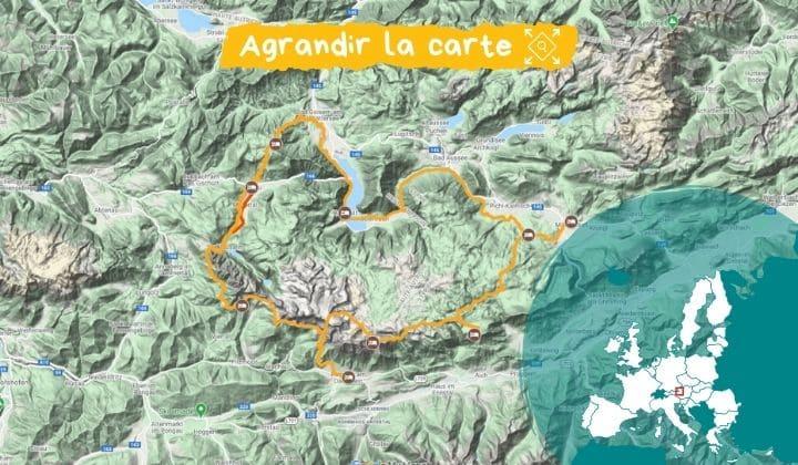 Itinéraire Tour du Dachstein