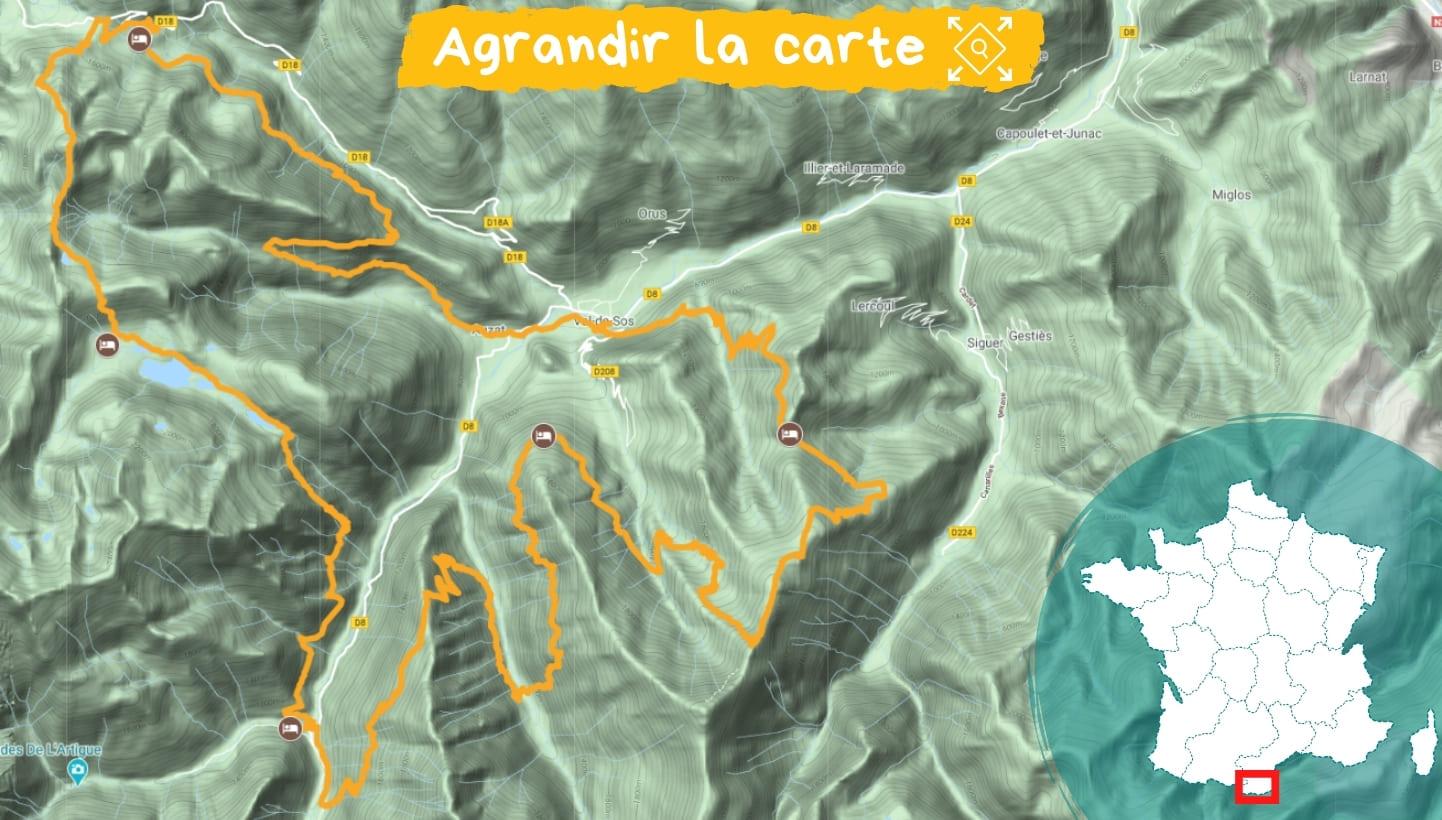 Itinéraire Vallées d'Auzat et du Vicdessos, Retrouvance®