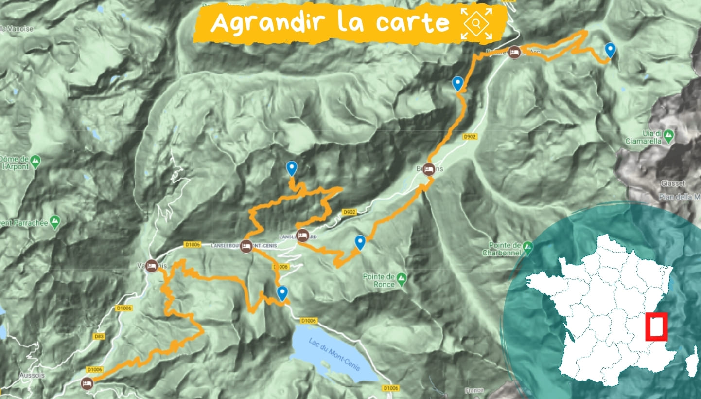 Itinéraire Vanoise et Haute Maurienne
