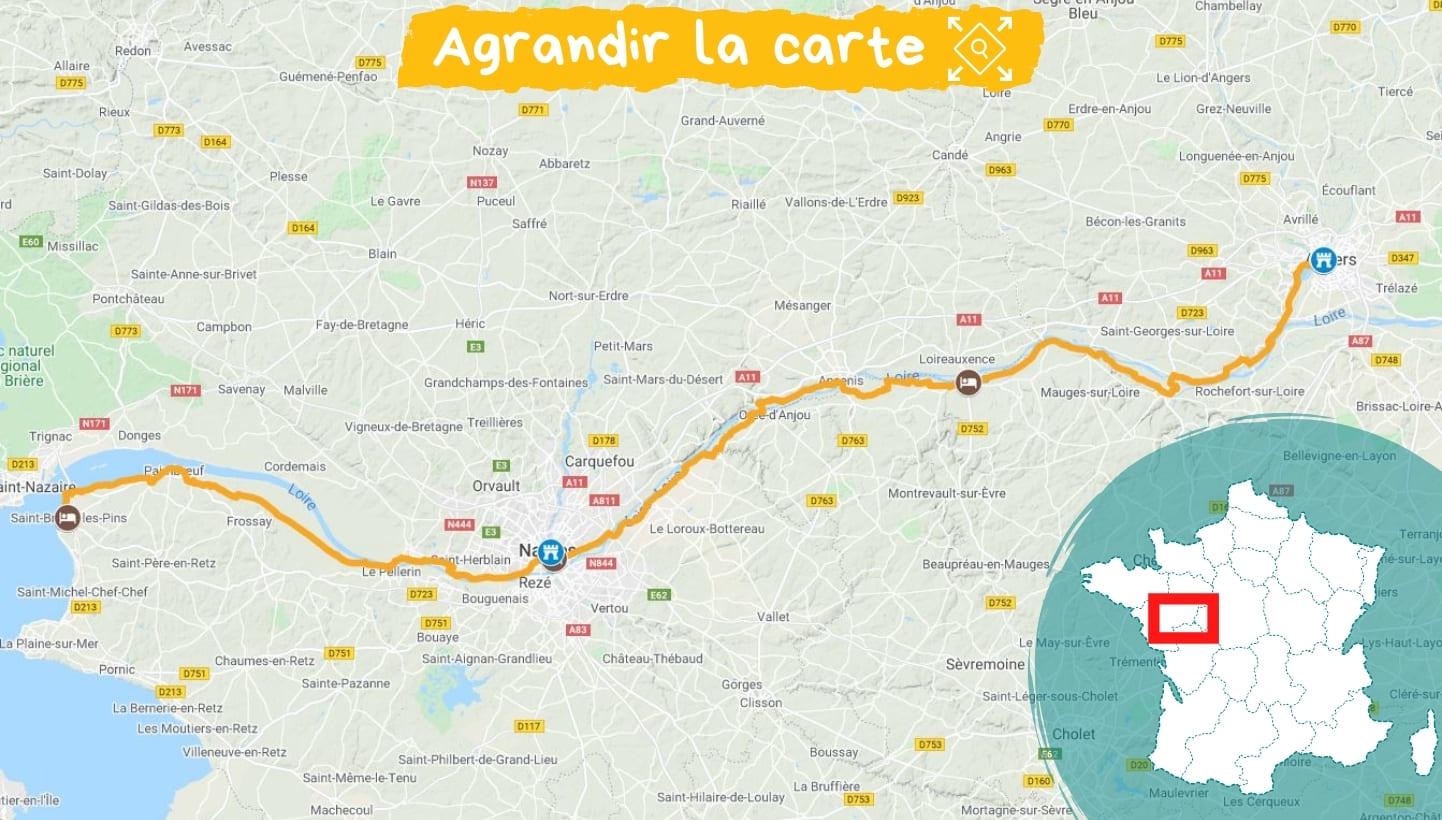 itinéraire vélo angers - st brévin