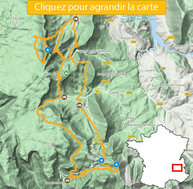 itinéraire vercors entre trièves et mont aiguille