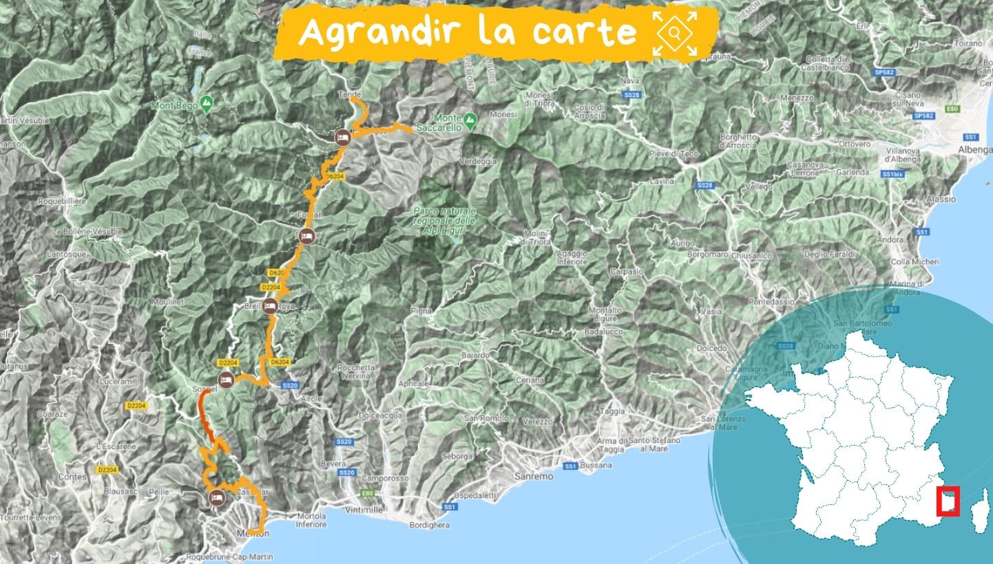 Itinéraire la Haute-Roya, les chemins de la mer