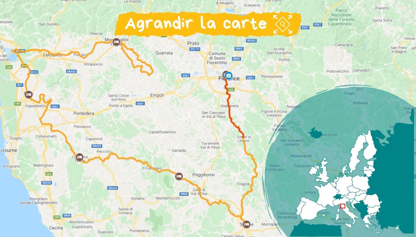 Itinéraire la Toscane à vélo, sur les terres de Léonard de Vinci