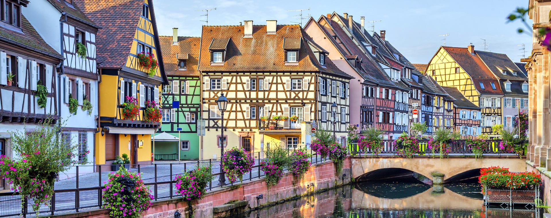 Image Marche nordique et villages d'Alsace