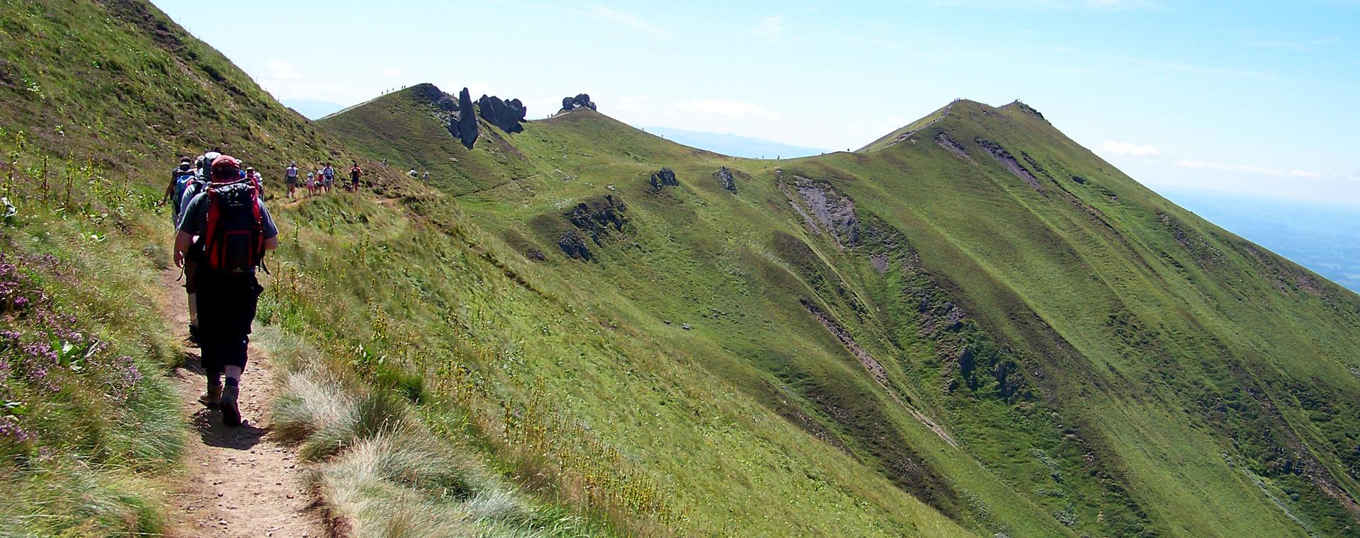 Voyage à pied : Parc des volcans d\'Auvergne