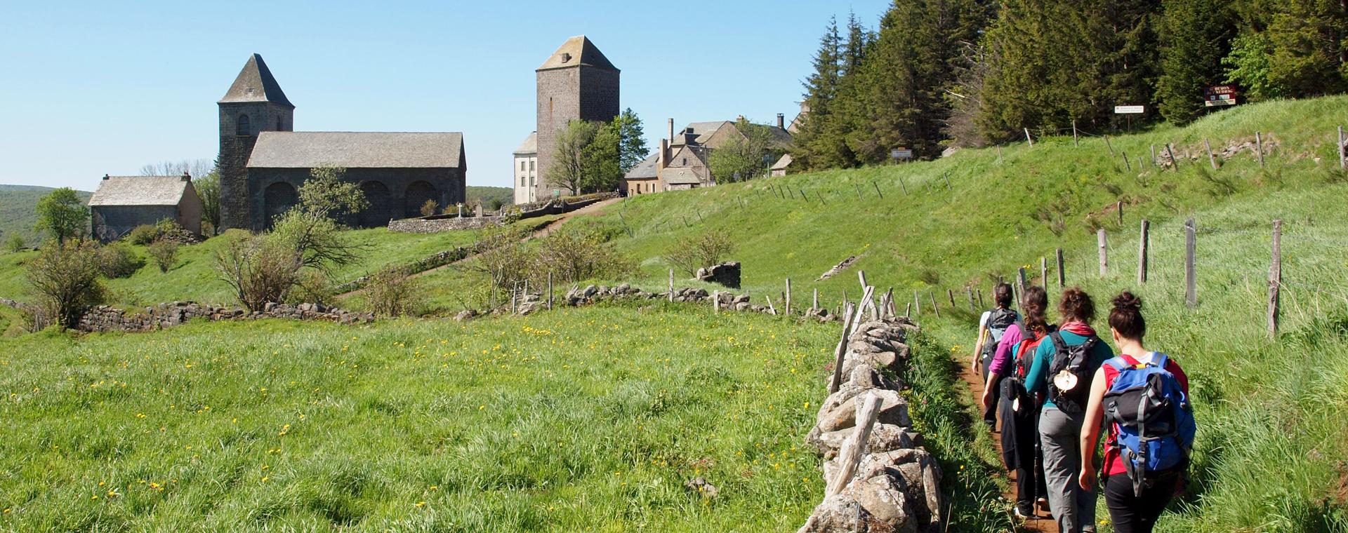 Image Chemins de Saint-Jacques : randonnée d'Aumont-Aubrac à Conques