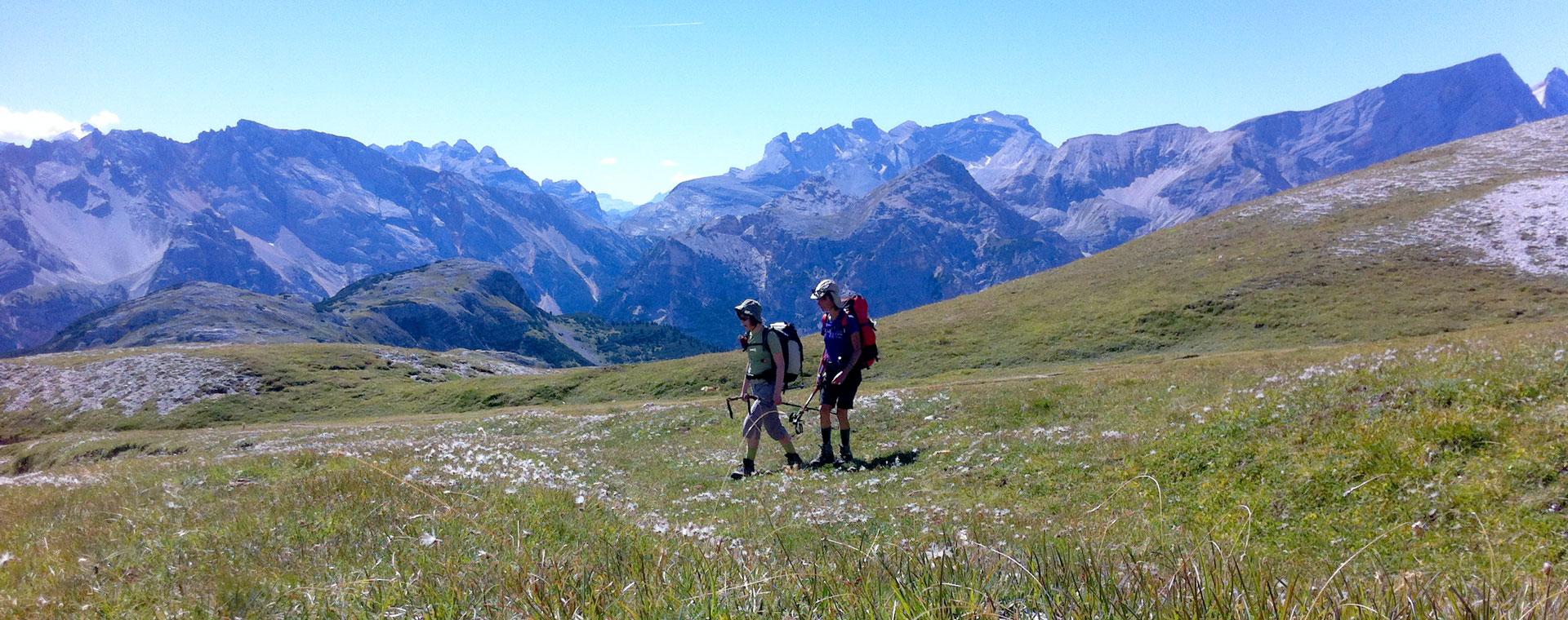 Voyage à pied : Dolomites de Cristal
