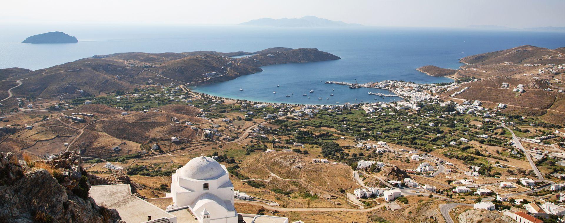 Image Vélo et Bateau dans les Cyclades