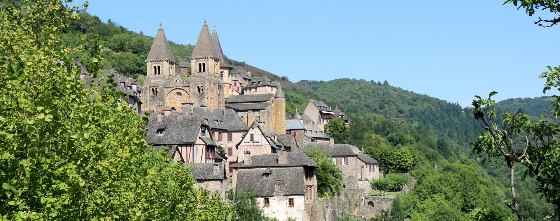 Voyage à pied France : Chemins de Saint-Jacques : d\'Aumont-Aubrac à Conques